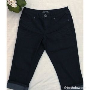 🆕NWT D. Jeans Darkwash Capris Size 8